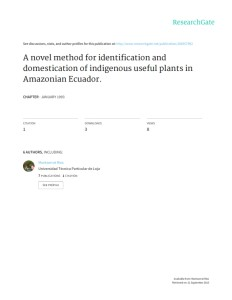 A Novel Method for Identification and Domestication of Indigenous Useful Plants in Amazonian Ecuador (1)_001